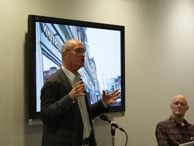 Iain Sinclair with Corridor8 publisher Michael Butterworth