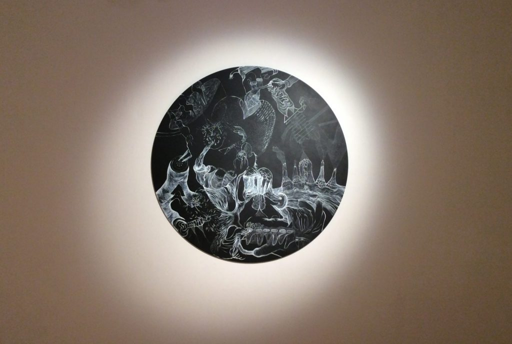 Sabina Sallis, Drawing Close – Voynich Series (2017). The Customs House.