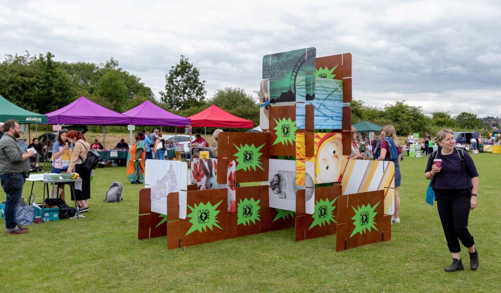 an outdoor installation for Gipton Gala