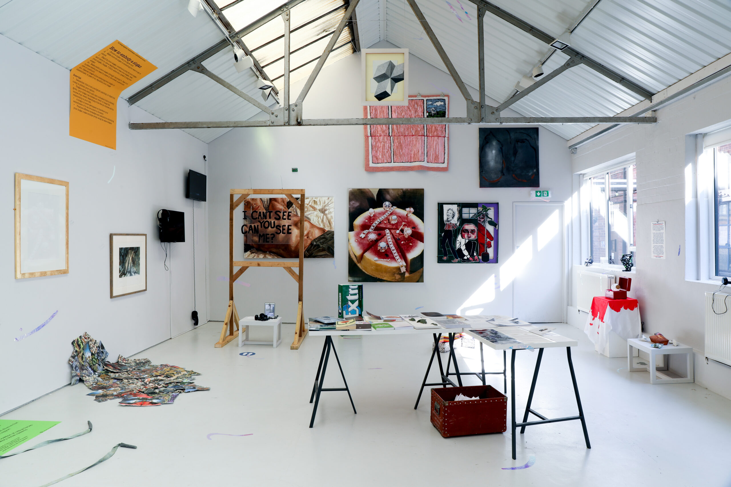 Installation image of the exhibition.
